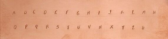"""NEW Fancy Font """"RAD"""" Upper Case Alphabet Metal Stamp Set"""