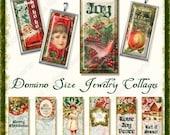 INSTANT DOWNLOAD Christmas Vintage Angel  Domino Digital Jewelry collages AJR-257 art for glass pendants elegant santas angels holly antique