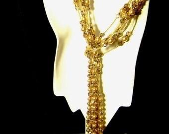 Shades of Gold Lariat