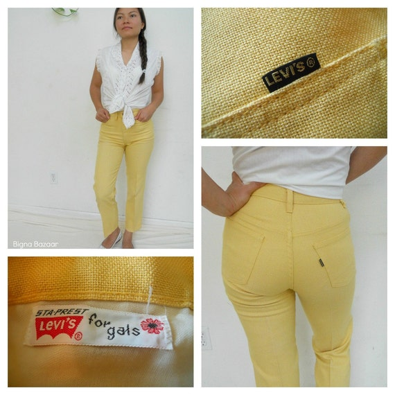RESERVED for Kerijean 60's High Waist Jeans // Capital E Levi's // Yello High Waisted Jeans