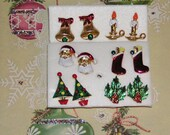 Vintage Earrings Christmas Holiday Collection of Post Earrings Lot Of 6 Pairs