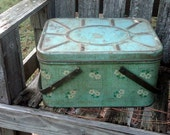 Daisy, Daisy - Vintage Metal and Wood Picnic Basket