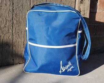 Vintage 1960's Blue and White Retro Bag
