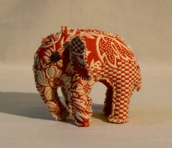 Pink Pattern Pachyderm (elephant), hand-made trinket