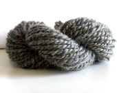 Reserved for Vanessa CLEARANCE  Handspun natural Gray Gotland Lambswool 2 ply Bulky Yarn - 40 yards