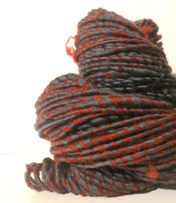 SALE Pit Stop - Handspun Merino wool ArtYarn - 111 yards- Buy 3 and get FREE SHIPPING