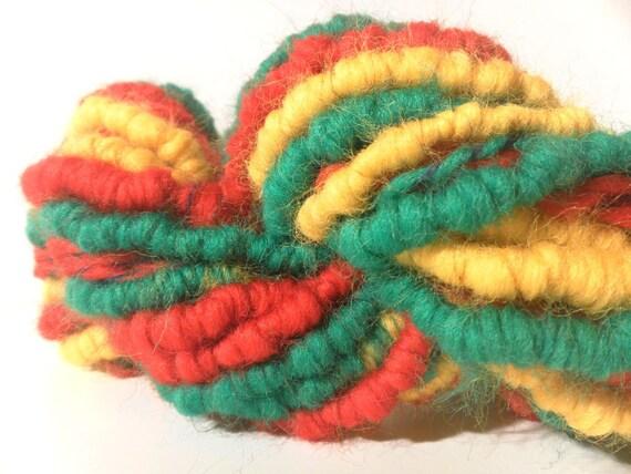 CLEARANCE - Handspun British blends wool Supercoiled UltraBulky ArtYarn - 16 yards
