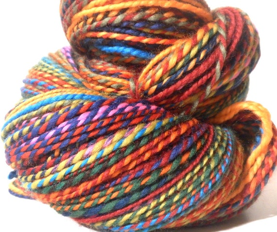 Sale Cirque du Soleil - Handspun supersoft Merino wool 2ply ArtYarn BIG size skein - 290 yards - Buy 3 and get FREE SHIPPING