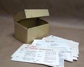 Vintage Tin Recipe Box with Recipes