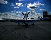 11 x 14 Fighter Plane on Runway Print