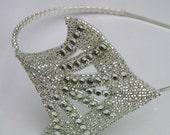 1920s style flapper rhinestone tiara / headband bridal or prom