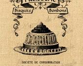 Patisserie   vintage romantic france paris eat cake print on iron transfer original gift tag label napkins burlap pillow Sheet n.746