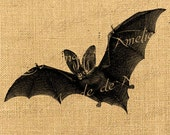 Bat  vampire wings black gothic steampunk digital image for iron transfer download for fabric handbag napkins pillow Sheet n.504