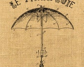 Le Parapluie    umbrella steampunk rain dictionary printable sheet art transfer gift tag label napkins burlap pillow Sheet n.209