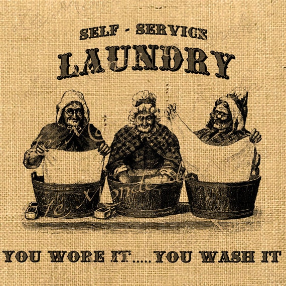 Clothes Wash Signs: Items Similar To Self Service Laundry Vintage Wash Clothes