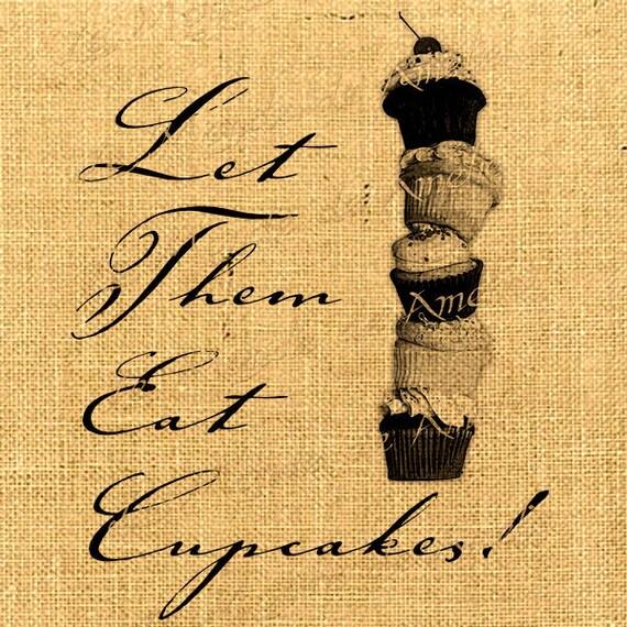 Eat Cupcakes  - sweet cake muffin food recipes parties favors alice in ephemera gift label napkins burlap pillow large image Sheet n.781