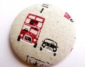Brooch, London, bus, taxi, car, linen, limited, uk, england, capital