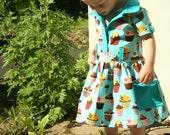 Aqua Cupcake Dress custom order for Tooz
