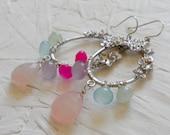 Teagan - Rainbow Chalcedony Sterling Silver Earrings