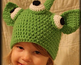 Alien Hat (Crochet Pattern) - Welcome to sell finished hat
