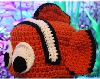 Clown Fish Hat (Crochet Pattern)
