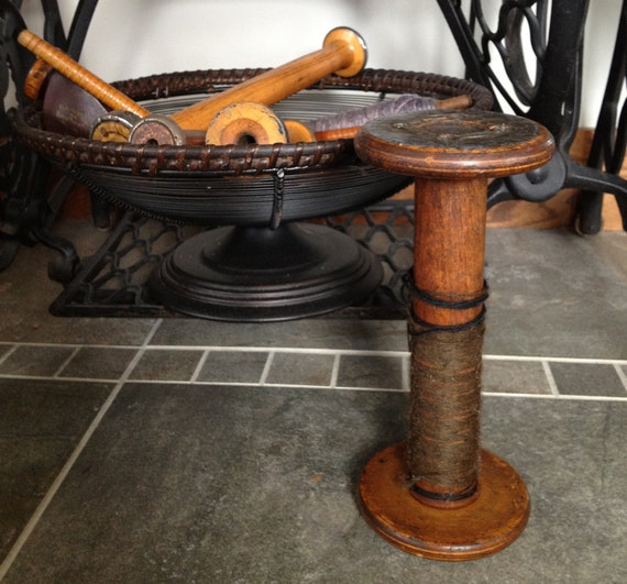 Antique Wooden Spool from Textile Factories
