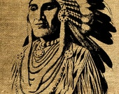 INSTANT DOWNLOAD Indian Chief - Download and Print - Image Transfer for Tote Bags and More - Digital Sheet by Room29 - Sheet no. 296