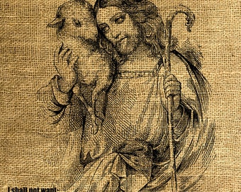INSTANT DOWNLOAD The Lord is my Shepherd - Download and Print - Image Transfer - Digital Sheet by Room29 - Sheet no.  306