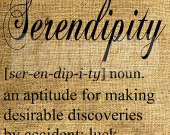 INSTANT DOWNLOAD Serendipity Dictionary Definition - Download and Print - Image Transfer - Digital Collage Sheet by Room29 - Sheet no. 422