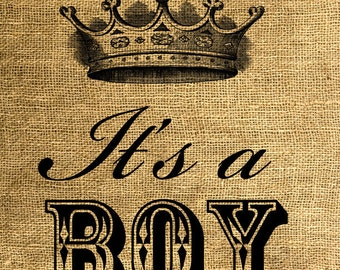 INSTANT DOWNLOAD It's a Boy - Download and Print - Image Transfer - Digital Sheet by Room29 - Sheet no. 577
