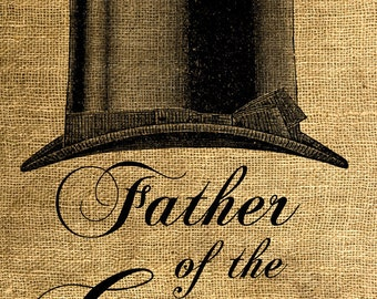 INSTANT DOWNLOAD Father of the Groom Hat - Download and Print - Image Transfer - Digital Sheet by Room29 - Sheet no. 595