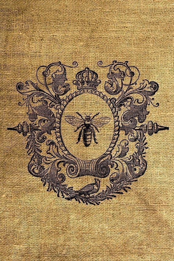 INSTANT DOWNLOAD - Vintage Framed Queen Bee Download and Print Image Transfer Digital Collage Sheet by Room29 Sheet no. 104