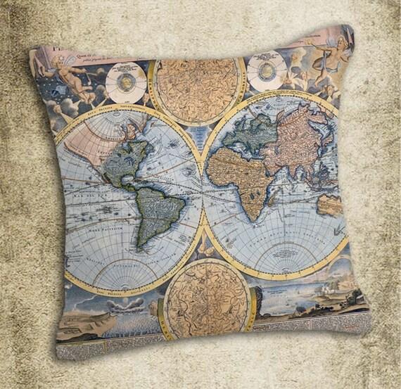 INSTANT DOWNLOAD World Map Vintage Illustration - Download and Print - Image Transfer - Digital Sheet by Room29 Sheet no. 644