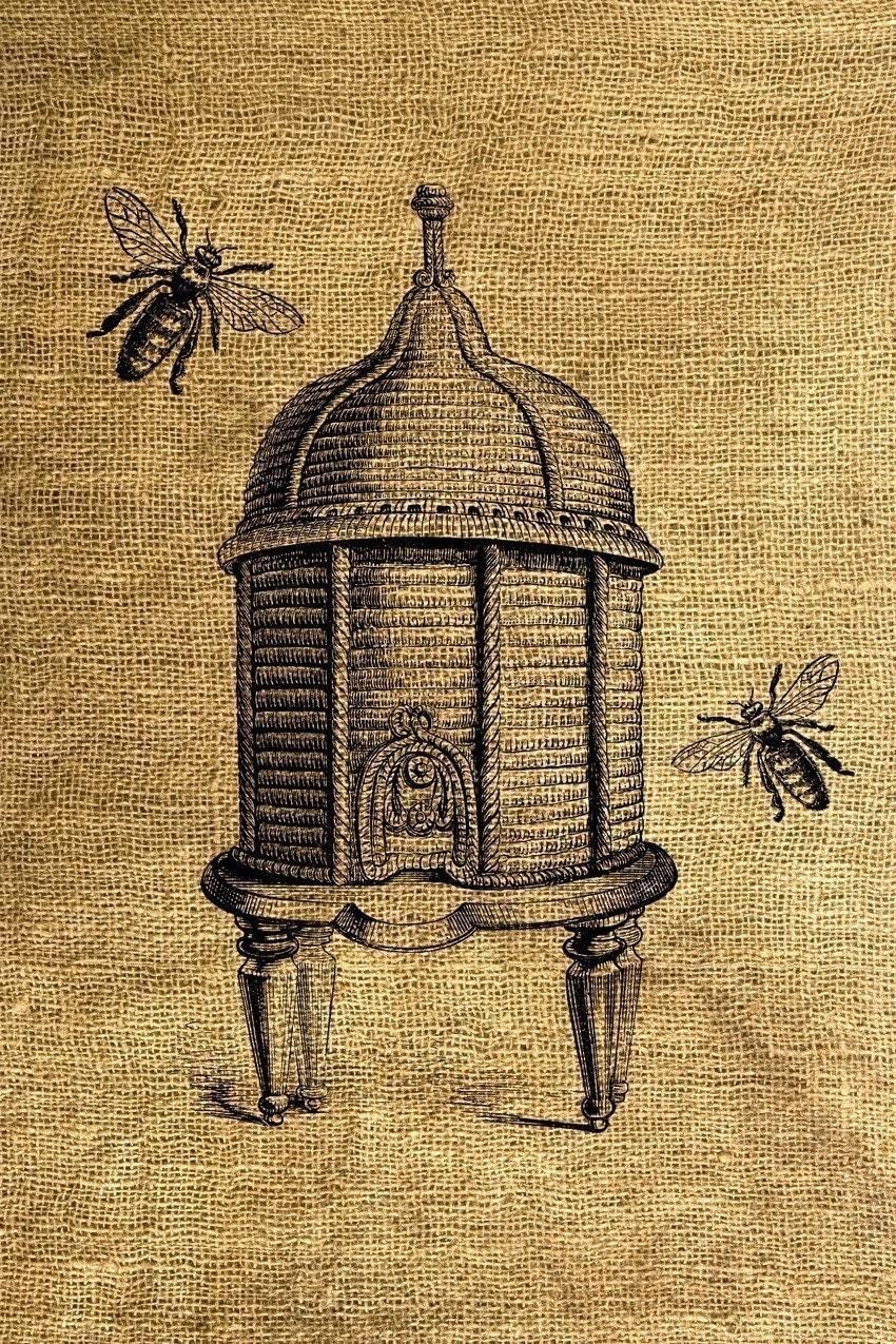 Vintage Beehive Illust...