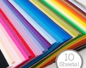 100 Percent Wool Felt- 10 Sheets- Your Choice of Colors- Please Read Listing Before Ordering