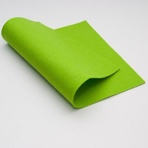 "100 Percent Wool Felt- Lime Green- 18"" x 18"" size"