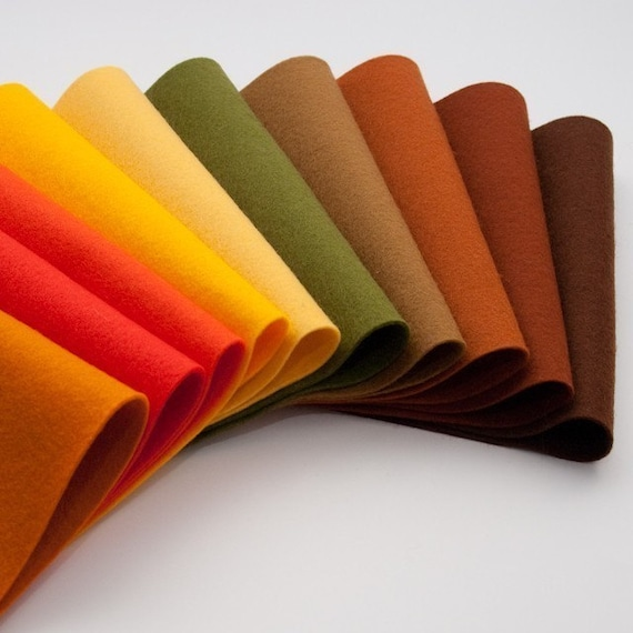 Pure Wool Felt Sheets- The Fall Season Collection