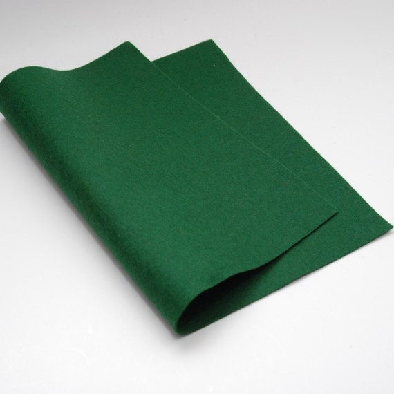 "100 Percent Wool Felt - Forest Green- 18"" x 18"" size"