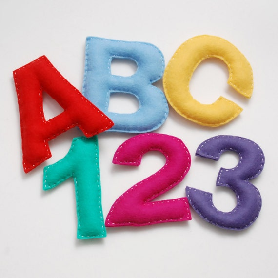 PDF Pattern- Felt Letters and Numbers Set