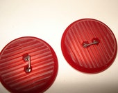 Vintage Red Plastic Buttons