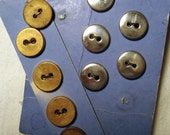 Vintage Buttons Gold Silver