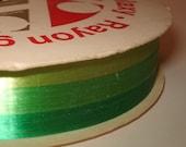 Vintage  Green Ribbon Three Tone Self Sticking Galaxy