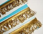 Vintage  Gold Fringe Trim Self Adhesive