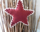 Shabby Chic Christmas Star Hanging Decoration