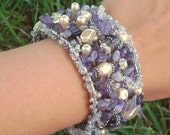 Amethyst Purple Cuff