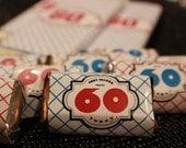 60th Birthday - Mini Candy Bar Wrapper - Digital File or Set of 30