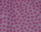 Think Pink Paw Prints Tie On Dog Bandana