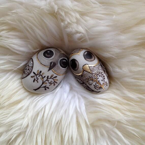 OOAK  '' TWO OWLS''