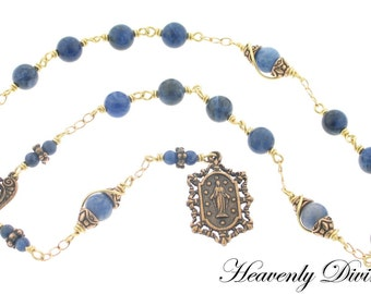 Handmade Chaplet Beads of the Immaculate Conception Chaplet