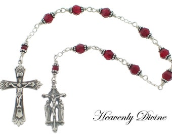 Swarovski Crystal the Chaplet of the Crucifixion Wire Wrapped Catholic Chaplet